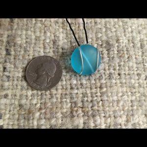 Blue Sea Glass XLong Bobby-pins